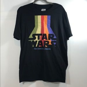 Star Wars Men's T-shirt Rainbow Large L